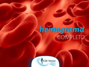 Na CDI tem: HEMOGRAMA COMPLETO
